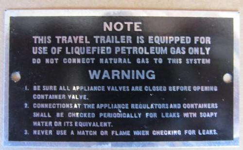 Aluminum Advisory Gas Tag (HW372)