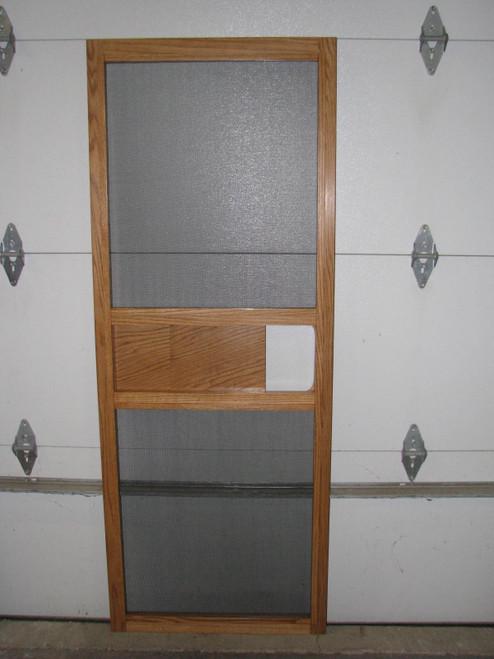 """Spartan 1953-1958 Oak Screen Door (27-1/4"""" wide)"""