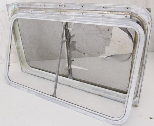 "33-1/8"" x 19-3/4"" Aluminum Window Frame (w/o glass & broken window lever) (BP363)"