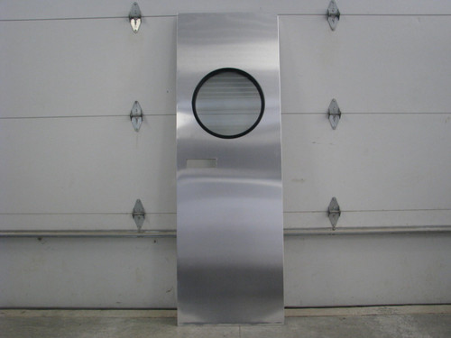 "28""x73"" Spartan RH Aluminum Entry Door w/ Round Window (CBP046)"