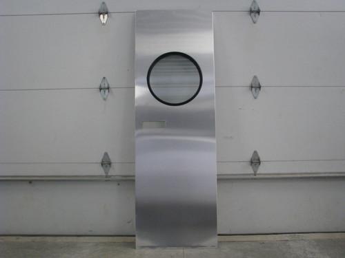 """28""""x73"""" Spartan RH Aluminum Entry Door w/ Round Window (CBP046)"""