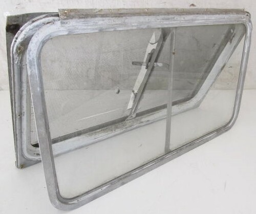 """33-1/8"""" x 19-3/4"""" Aluminum Window Frame (with hole in glass) (BP364)"""