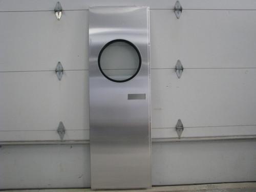"""24""""x73"""" Spartan LH Aluminum Entry Door w/ Round Window (1953-1955) (CBP053)"""