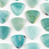 Amazonite 35mm Top Drilled Inverted Triangle Pendant - 1 per bag