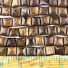 Bronzite 10mm Square Beads - approx. 8 inch strand, Set A