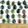 Fancy Jasper 12x15mm Faceted Top Drilled Teardrop Beads - approx. 8 inch strand, Set B