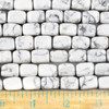 Howlite 10x14mm Nugget Beads - approx. 8 inch strand, Set A