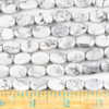Howlite 10x14mm Oval Beads - approx. 8 inch strand, Set A