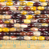 Mookaite 8x12mm Faceted Rice Beads - approx. 8 inch strand, Set B