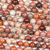 Mexican Red Porcelain Jasper 8mm Round Beads - 16 inch strand