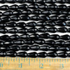 Black Obsidian 8x12mm Faceted Rounded Teardrop Beads - approx. 8 inch strand, Set B