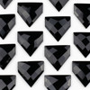 Onyx 38x40mm Top Drilled Faceted Flag Pendant with a Flat Back - 1 per bag