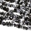 "Snowflake Obsidian 5-8mm Chip Beads - 34"" circular strand"