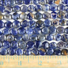 Sodalite 10mm Coin Beads - approx. 8 inch strand, Set A