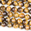 Yellow Tigereye Faceted 10mm Round Beads - approx. 8 inch strand, Set B