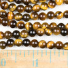 Yellow Tigereye 6mm Round Beads - approx. 8 inch strand, Set A