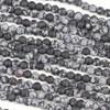 Matte Snowflake Obsidian 6mm Mala Round Beads - 29 inch strand