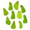 Matte Glass, Sea Glass Style 10-15x21x28mm Olive Green Free Form Nugget Drop Pendants - 10 per bag