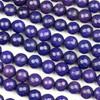 Dyed Jade 8mm Dark Royal Blue Purple Faceted Round Beads - 8 inch strand