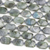 Blue Labradorite 15x22mm Faceted Hexagon Beads - 15.5 inch strand