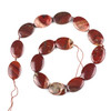 Apple Jasper 18x25mm Oval Beads - 16 inch knotted strand