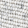 Howlite 5x8mm Faceted Rondelle Beads - 15.5 inch strand