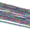 Hematite 2mm Electroplated Purple Rainbow Round Beads - approx. 8 inch strand
