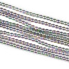 Hematite 2mm Electroplated Pink Rainbow Round Beads - approx. 8 inch strand