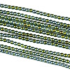 Hematite 2mm Electroplated Green Round Beads - approx. 8 inch strand