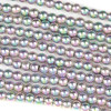 Hematite 4mm Electroplated Pink Rainbow Round Beads - approx. 8 inch strand