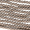 Hematite 4mm Electroplated Bronze Round Beads - approx. 8 inch strand