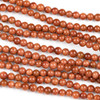 Goldstone 4mm Round Beads - approx. 8 inch strand, Set A