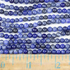 Sodalite 4mm Round Beads - approx. 8 inch strand, Set A