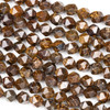 Bronzite 8mm Simple Faceted Star Cut Beads - 14 inch strand