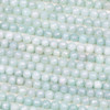 Pale Blue Amazonite 6mm Faceted Round Beads - 15 inch strand