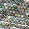 African Turquoise 8mm Faceted Round Beads - 15 inch strand
