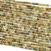 Green Garnet 3mm Faceted Round Beads - 15 inch strand