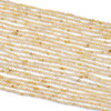 Gold Rutilated Quartz 2mm Faceted Round Beads - 15 inch strand