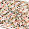 Mixed Rutilated Quartz 3mm Faceted Round Beads - 15 inch strand