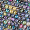 Purple Tigereye 10mm Round Beads - 15 inch strand