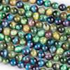 Green Tigereye 8mm Round Beads - 15 inch strand