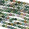 Fancy Jasper Faceted 4mm Round Beads - approx. 8 inch strand, Set B
