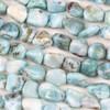 Larimar 10-14mm Chip/Pebble Beads - 15 inch strand
