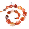 Dyed Agate 15x20-26x35mm Faceted Graduated Nugget Beads - 18 inch knotted strand