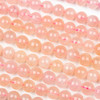 Pink Morganite 8mm Round Beads - 15 inch strand