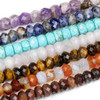 Large Hole Chakra 10mm Faceted Rondelle Bead Set with a 2.5mm Drilled Hole - 7 beads per bag
