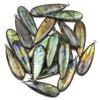 Labradorite approximately 15x48mm Long Teardrop Drop with a Gun Metal Plated Brass Bezel - 1 per bag