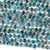 Apatite 6x8mm Horizontally Drilled Faceted Oval Beads - 3-3.5mm thick, 16 inch strand