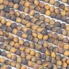 Matte Yellow Tigereye 6mm Round Beads - 15 inch strand