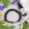 Aromatherapy Chakra Elastic Bracelet Kit with Lavender Essential Oil - aromachakrabkit-1